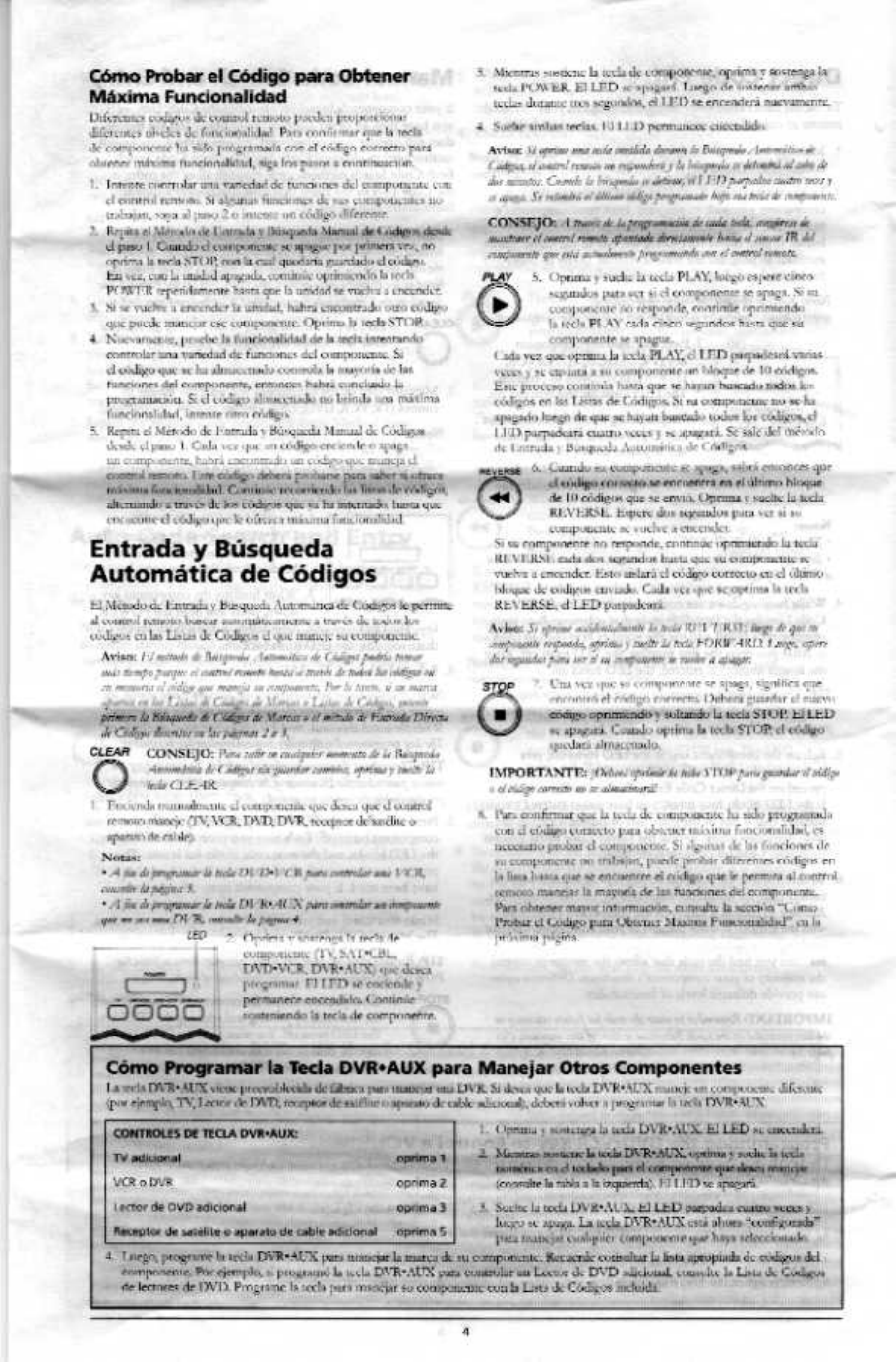 page 4 of rca universal remote rcr4383 user guide instruction manual for rca universal remote control manual for rca universal remote
