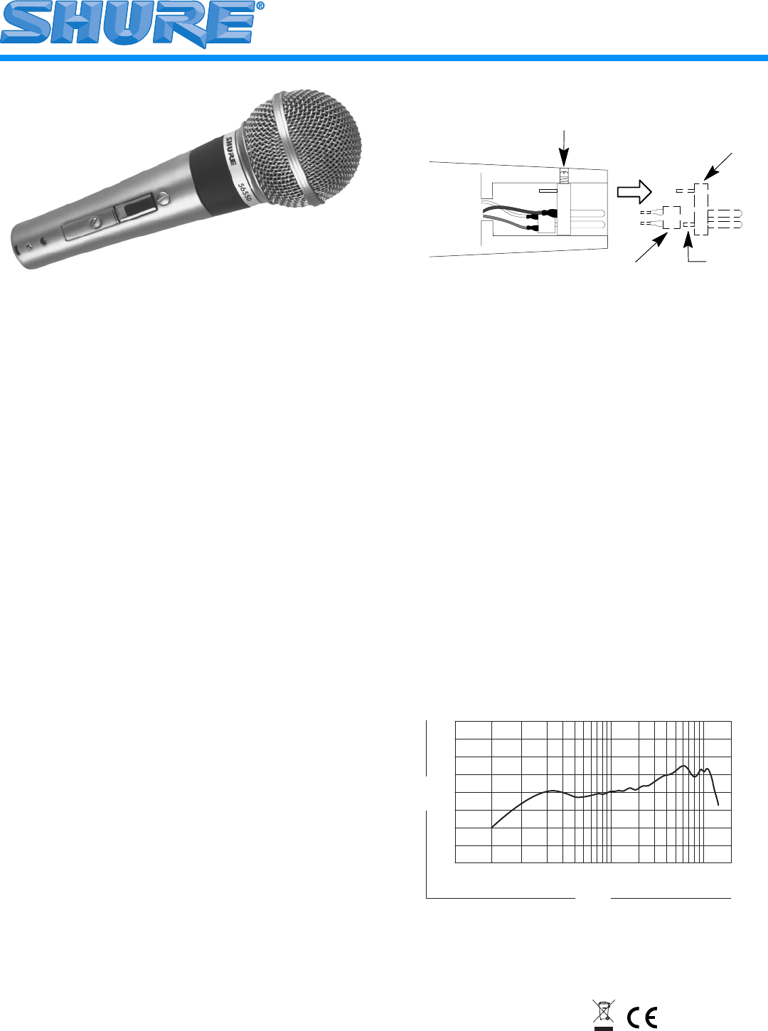 Shure Microphone 565SD User Guide | ManualsOnline.com