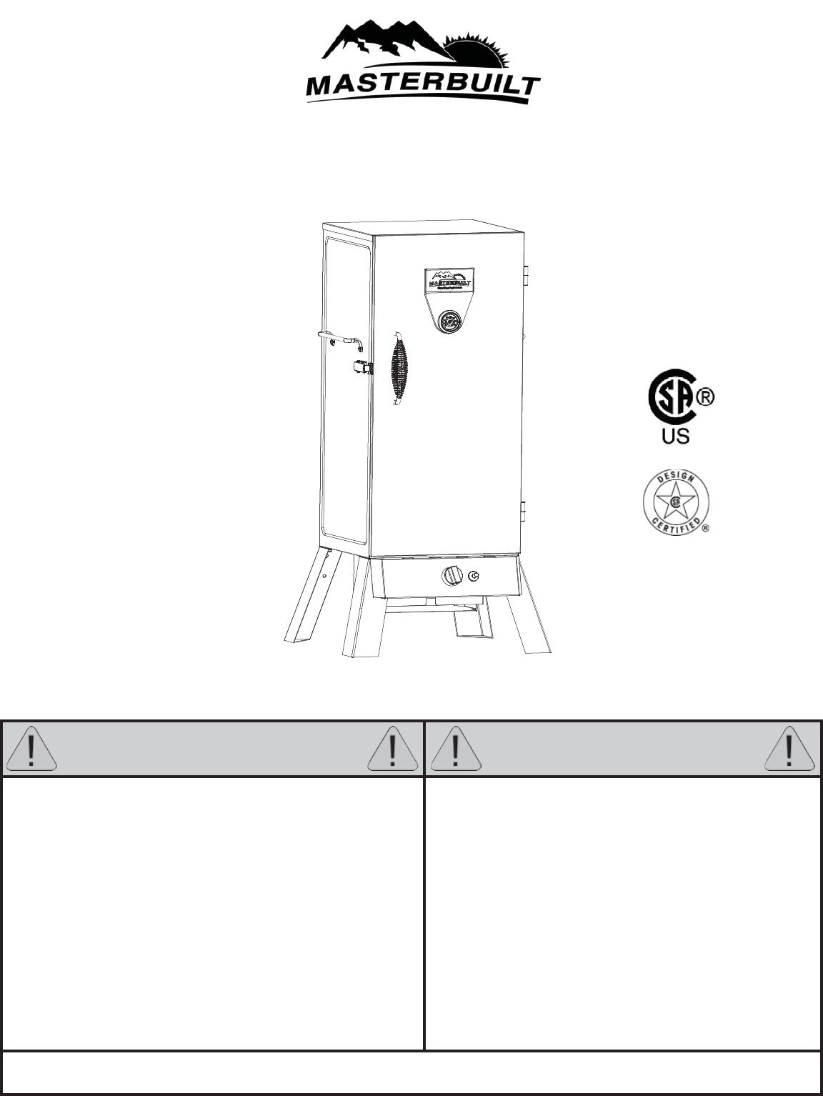 masterbuilt electric smoker manual pdf