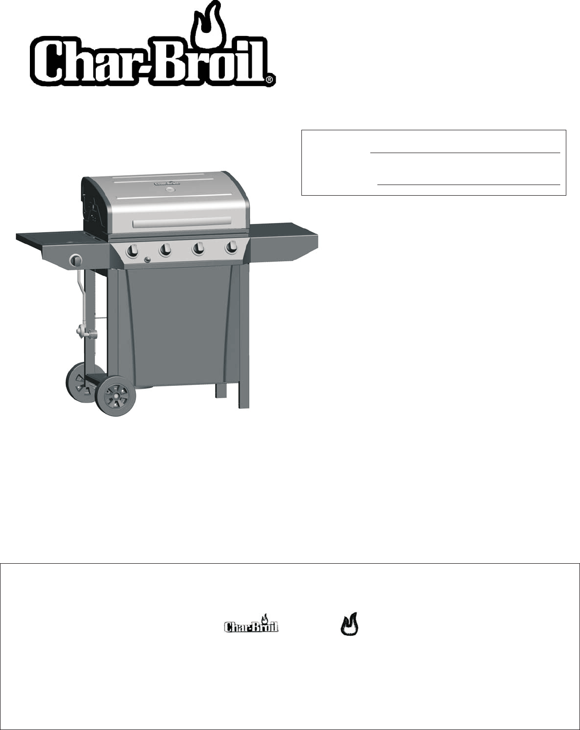 Char Broil Gas Grill 463440109 User