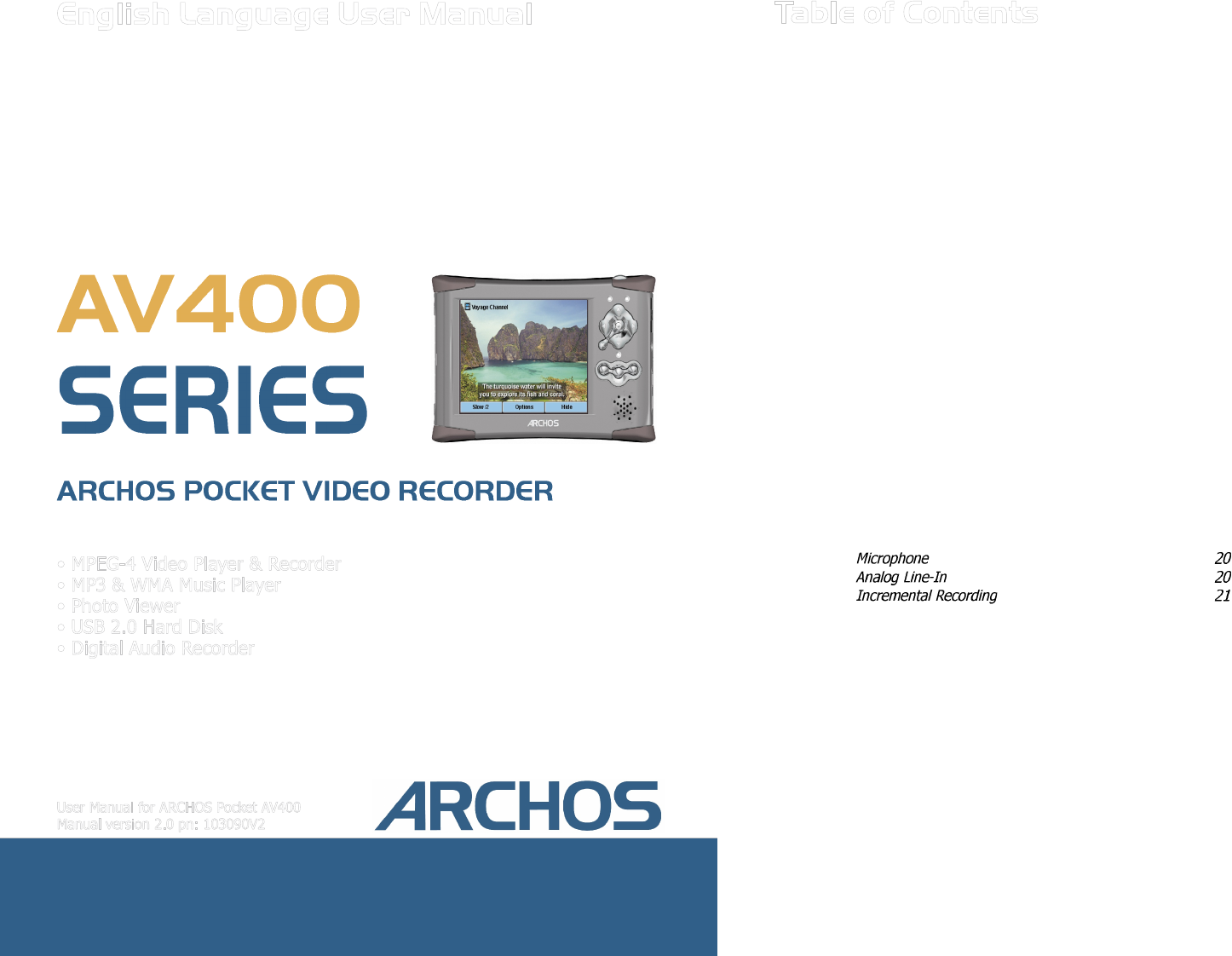 archos dvr av400 series user guide manualsonline com rh tv manualsonline com