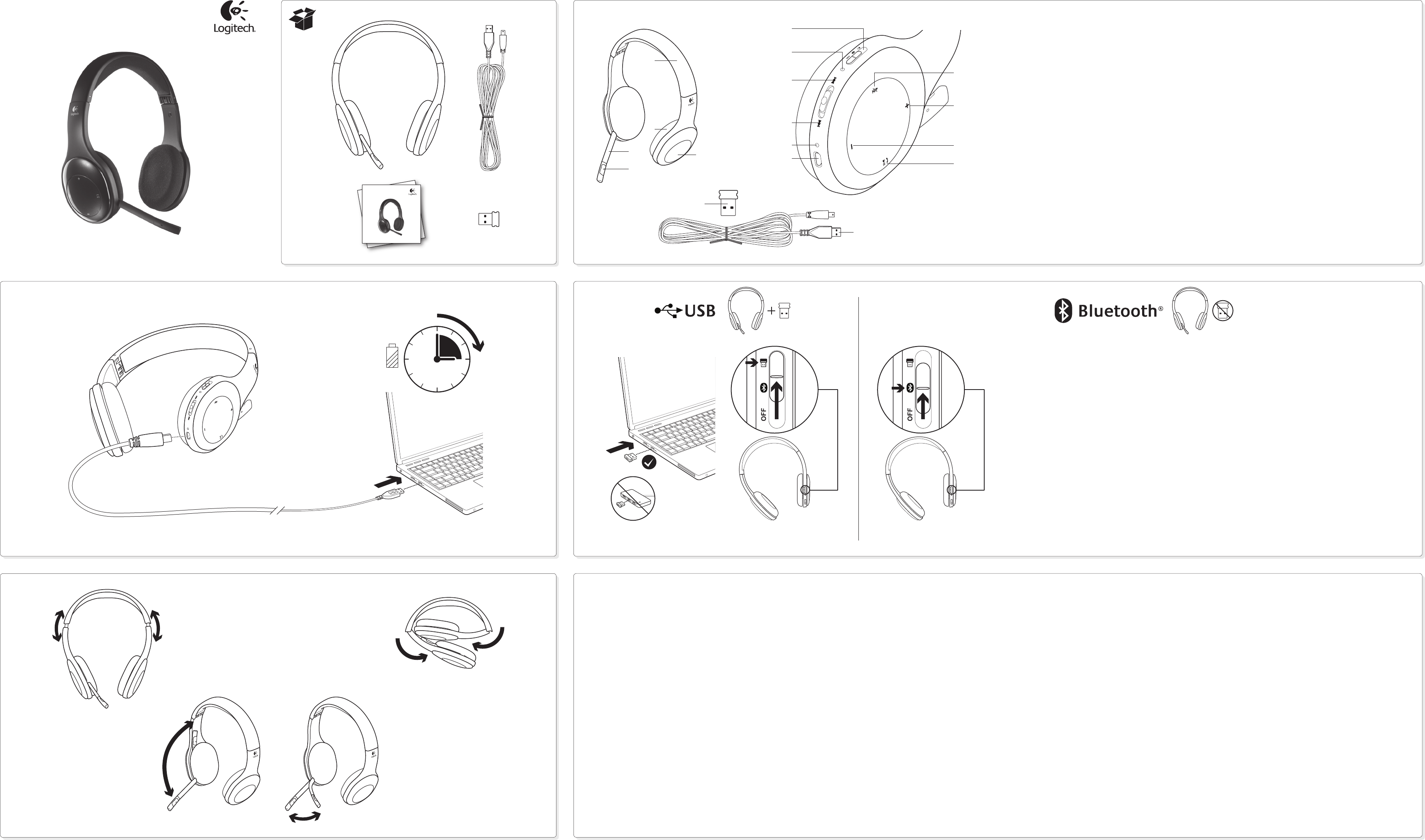 Nano receiver for wireless headset h800 - Logitech Wireless Headset H800 Headphones User Manual