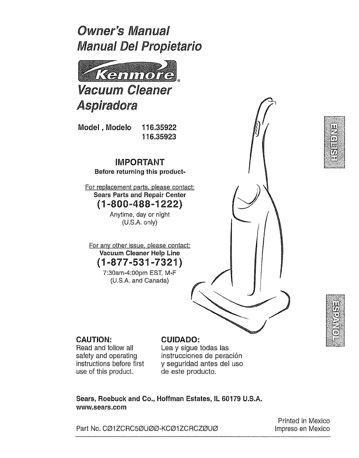 kenmore vacuum cleaner repair manual