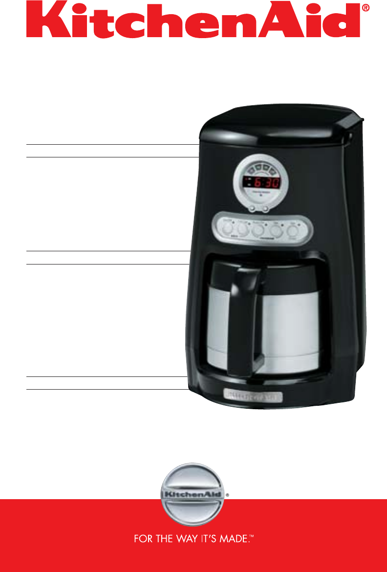 Kitchenaid Coffee Maker Operating Manual : KitchenAid Coffeemaker KCM525 User Guide ManualsOnline.com