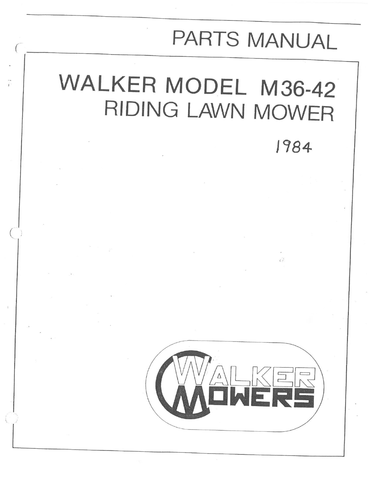 Walker Lawn Mower M3642 User Guide ManualsOnlinecom