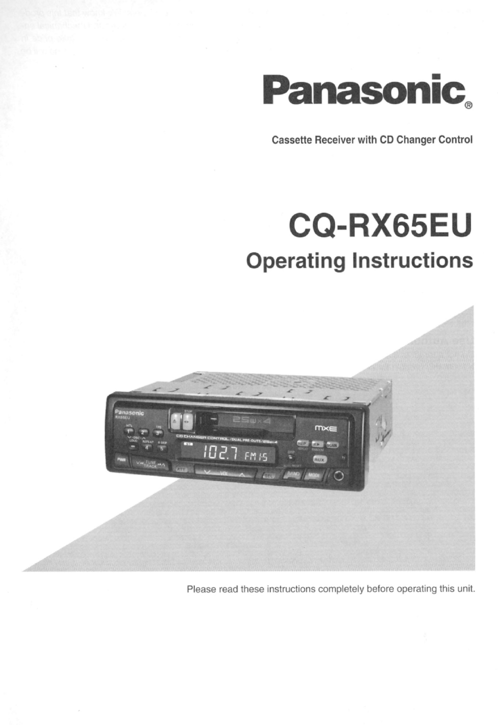 panasonic car video system user manual how to and user guide rh taxibermuda co Sony Operating Manuals ICD-UX523 Operators Manual