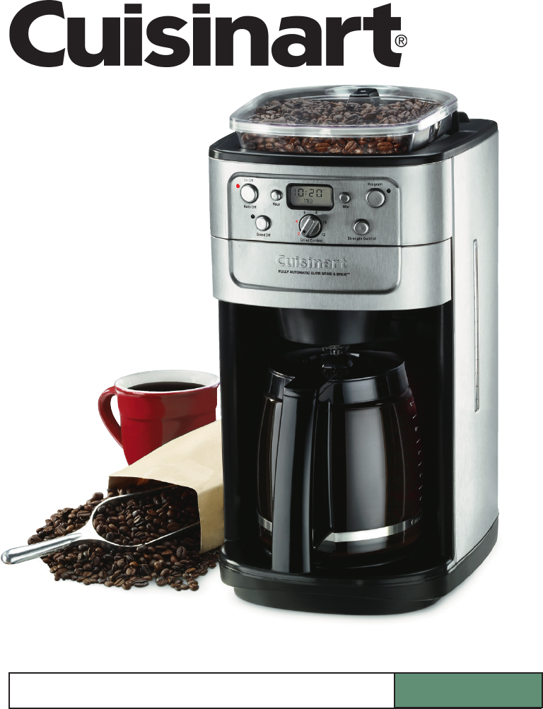 Cuisinart Coffeemaker Dgb 700bc User Guide Manualsonline