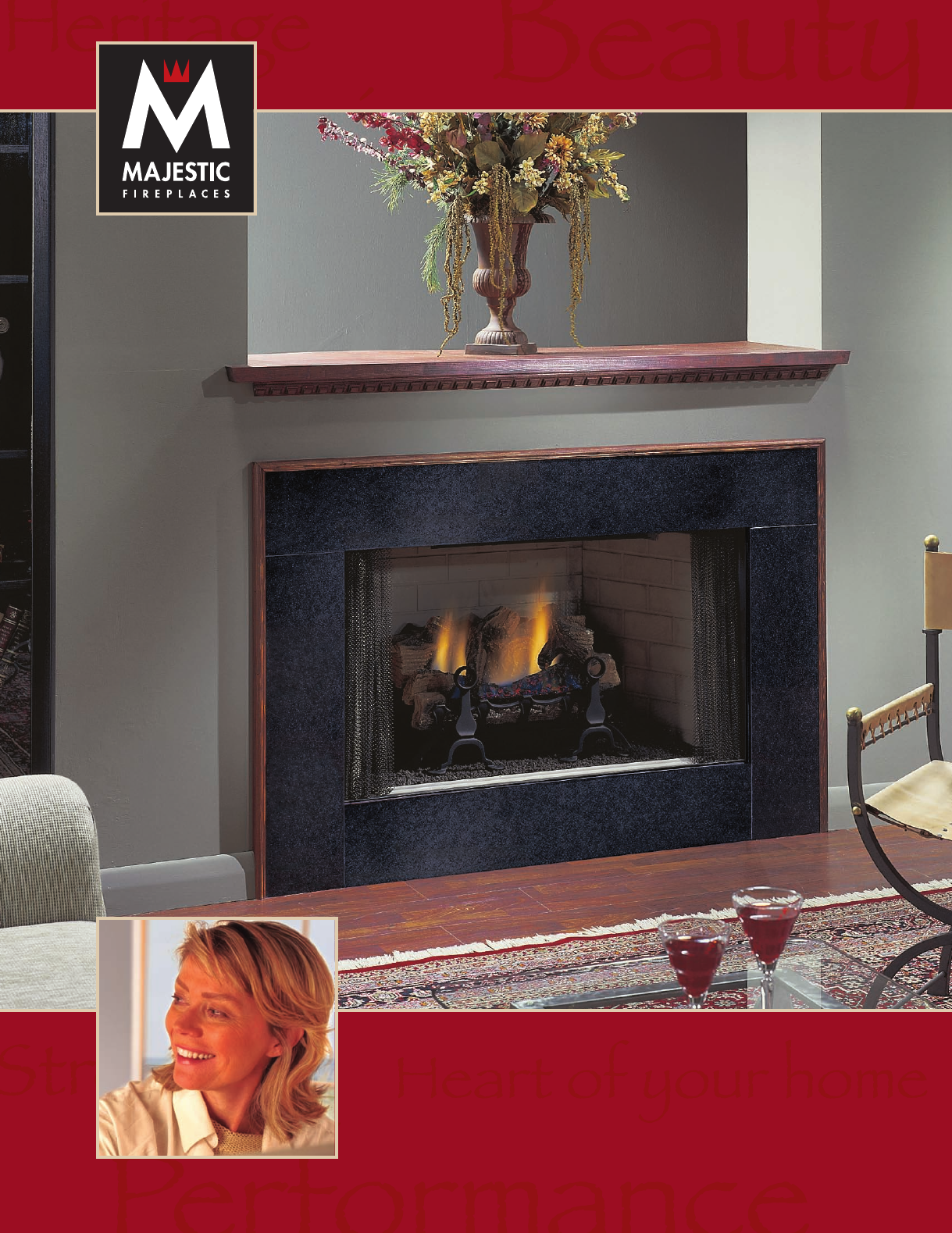 majestic appliances indoor fireplace vl21 user guide