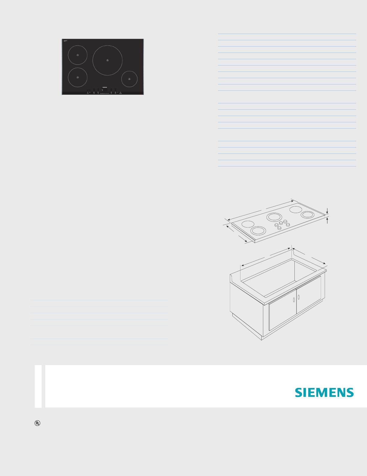 siemens cooktop eh7752uc user guide manualsonline com rh kitchen manualsonline com Siemens Technical Manuals Siemens User Manual
