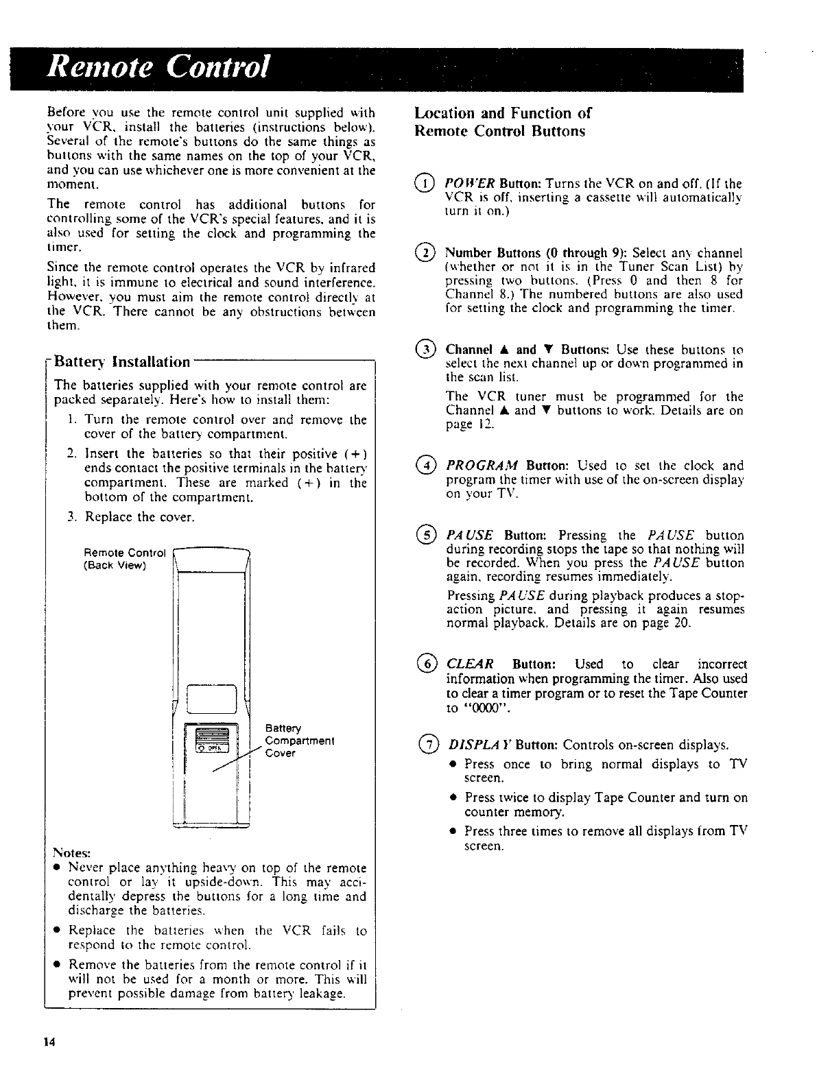 Page 16 of RCA VCR VR270 User Guide | ManualsOnline com