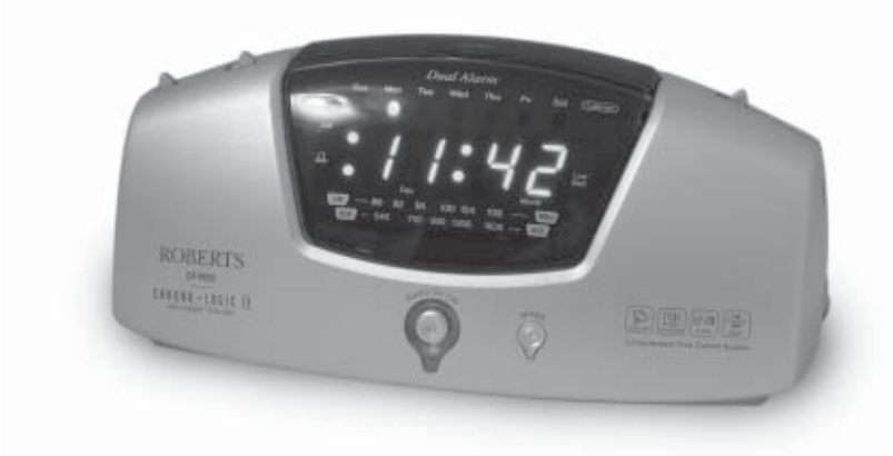 roberts radio clock radio cr9945 user guide. Black Bedroom Furniture Sets. Home Design Ideas