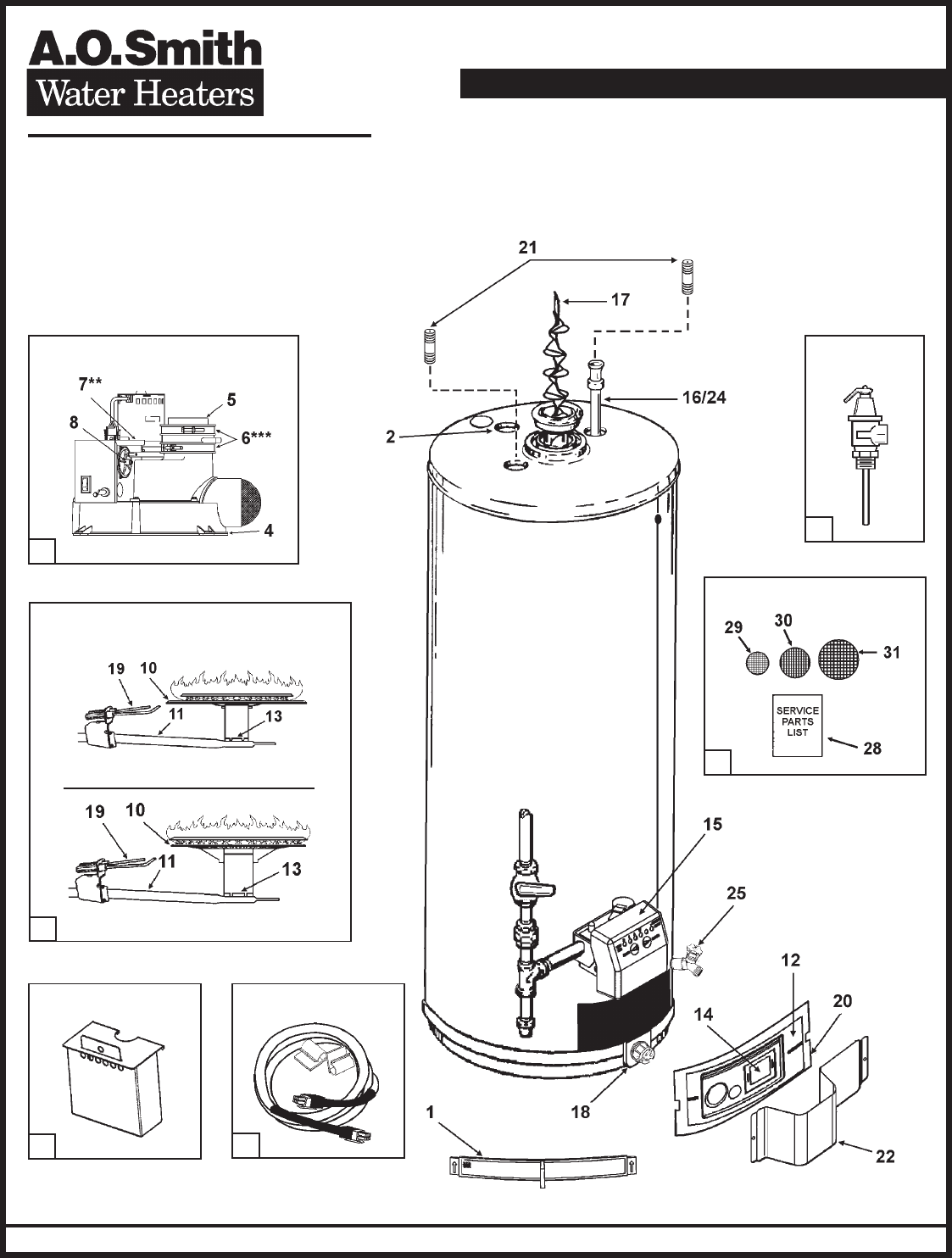 Ao smith water heater 100 series user guide manualsonline ao smith water heater parts fulfillment phone 1 800 433 2525 hotwater ccuart Image collections