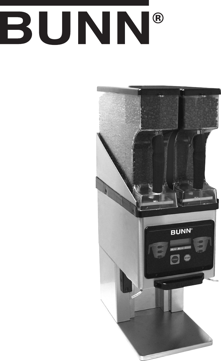Bunn Dual Coffee Maker Manual : Bunn Coffeemaker Dual SH User Guide ManualsOnline.com