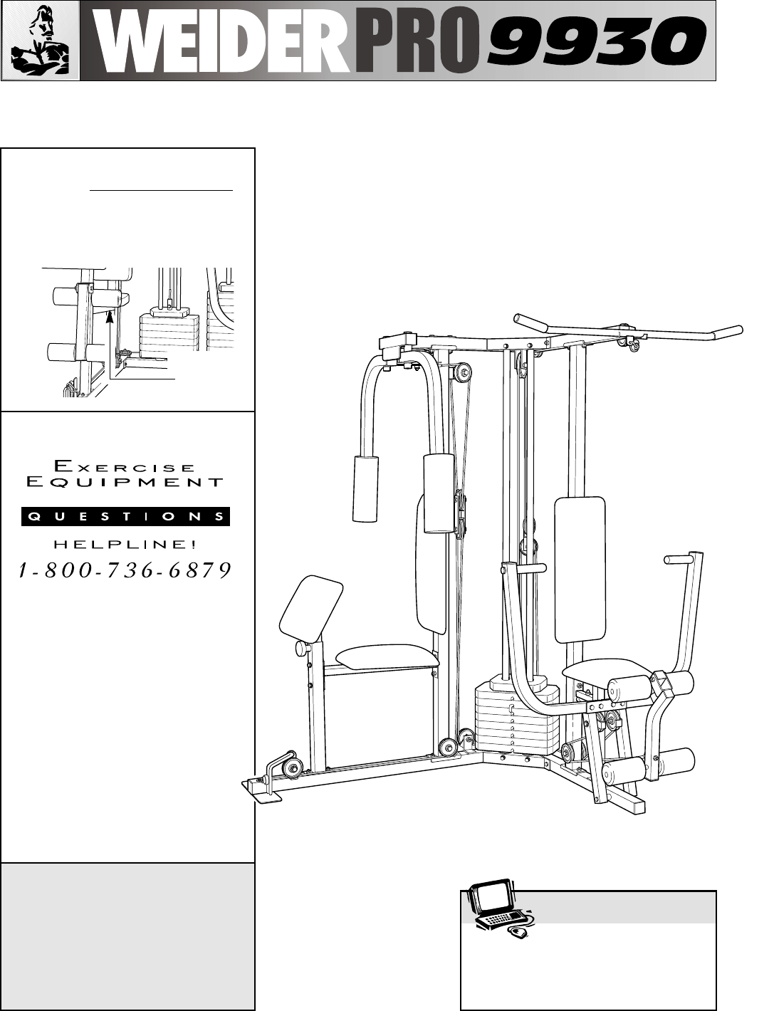 Weider home gym 831159720 user guide manualsonline users manual pooptronica Image collections