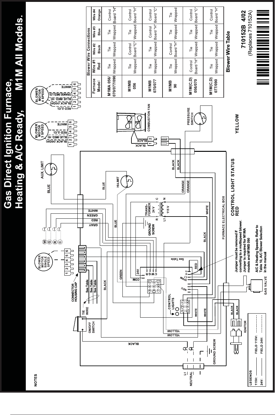 nordyne electric furnace limit switch wiring diagram
