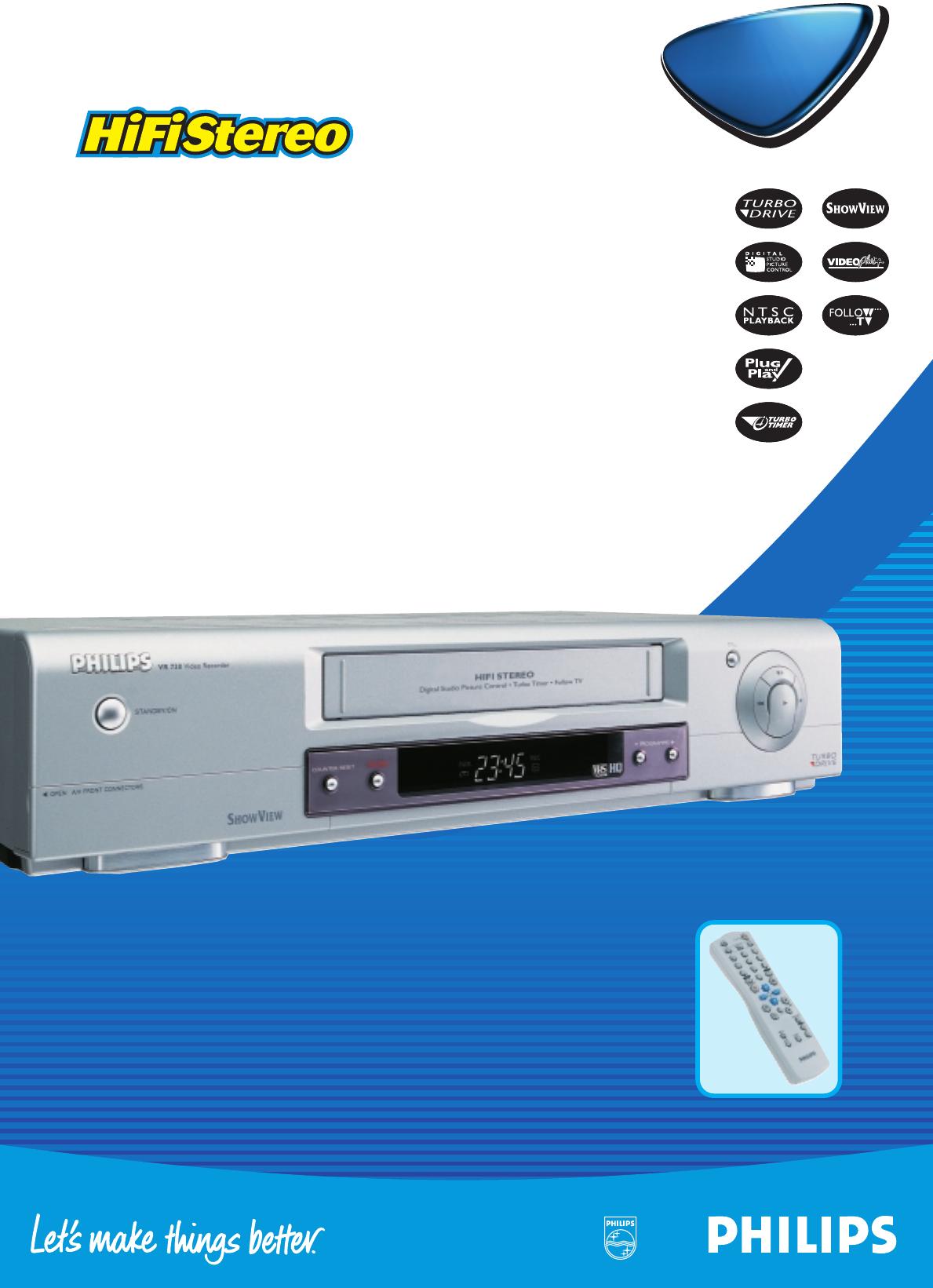 philips dvr vr716 user guide manualsonline com rh tv manualsonline com DCT6412 User Guide DVR Instruction Manual