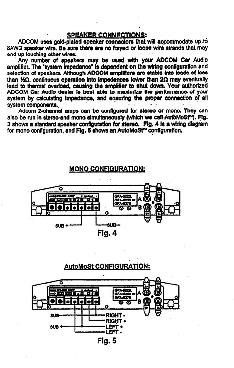 page 8 of adcom car amplifier gfa 5275 user guide manualsonline com rh caraudio manualsonline com Nelson Pass Adcom Car Amplifier Adcom Radar