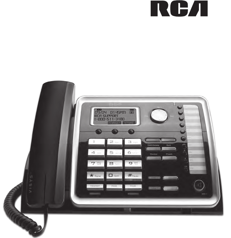 rca conference phone 25214 user guide manualsonline com rh phone manualsonline com RCA Wireless Telephone RCA Telephone Retro
