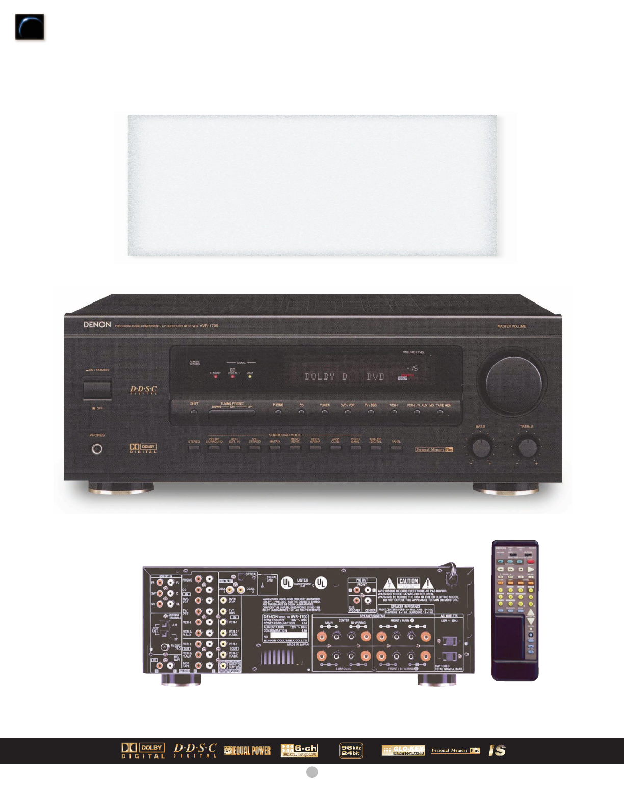 denon stereo receiver avr 1700 user guide manualsonline com rh audio manualsonline com denon manual avr s530bt denon manual avr s530bt
