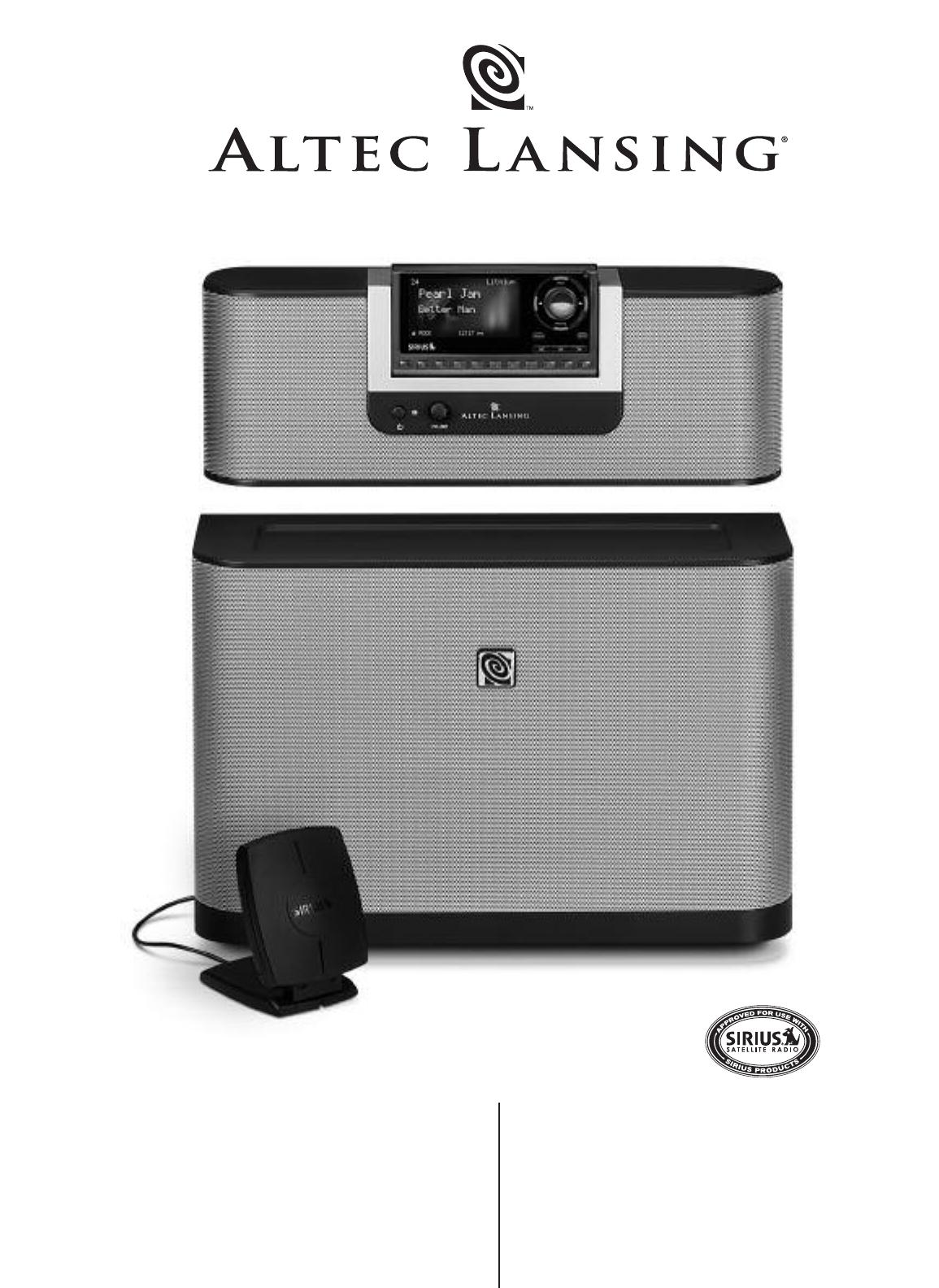 altec lansing portable speaker sr4021 user guide manualsonline com rh portablemedia manualsonline com Altec Lansing Logo Altec Lansing Portable Speaker