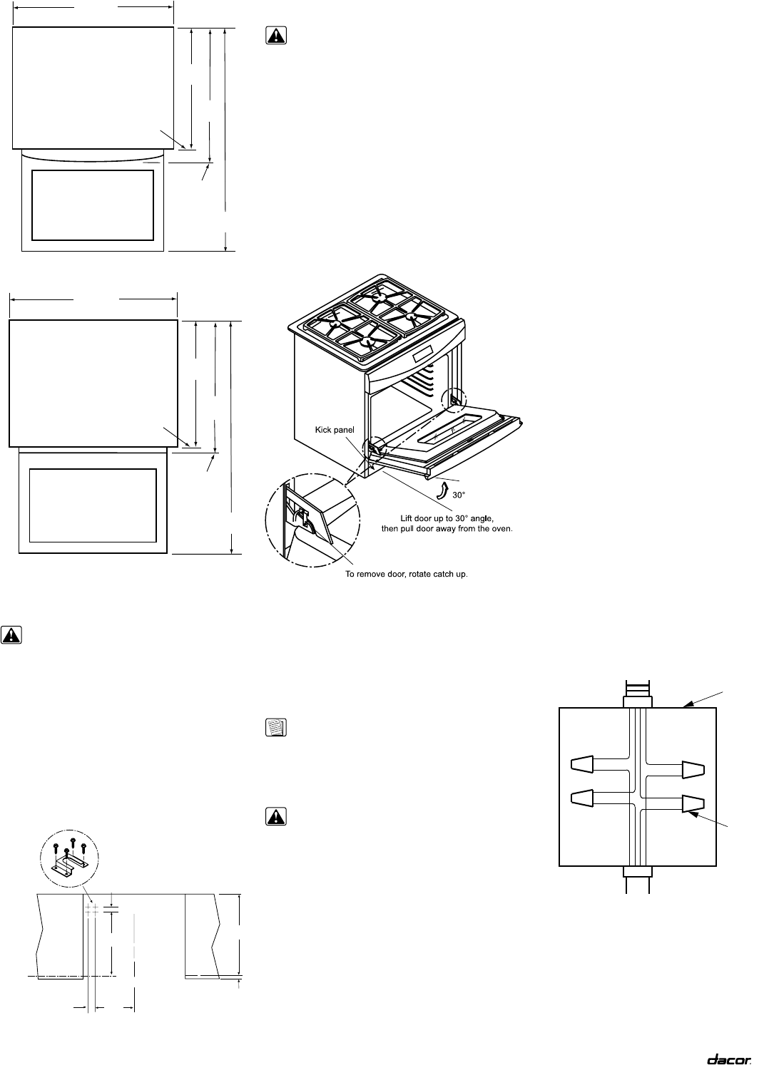 page 5 of dacor range rsd30 user guide manualsonline com rh kitchen manualsonline com Dacor Cooktop Parts List Dacor Range Review