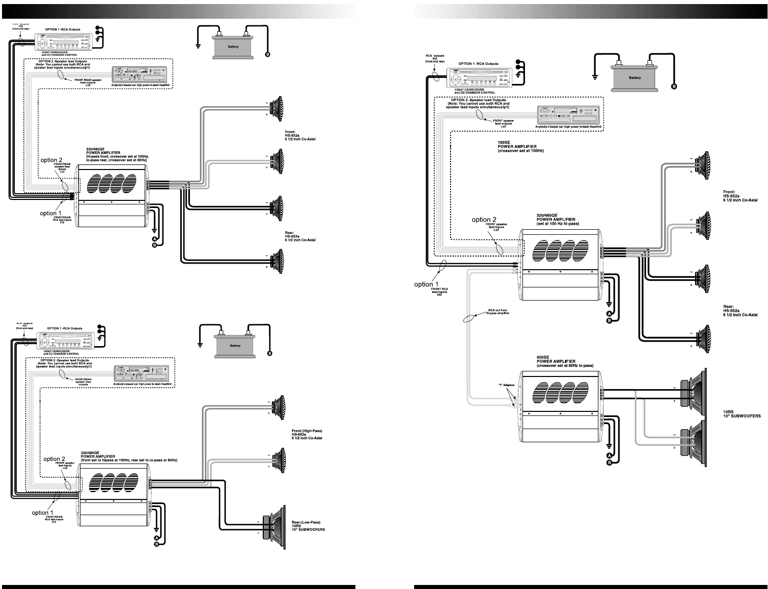 page 8 of coustic stereo amplifier 320qe user guide manualsonline com rh audio manualsonline com Dual Amp Wiring Diagram Dual Amp Wiring Diagram