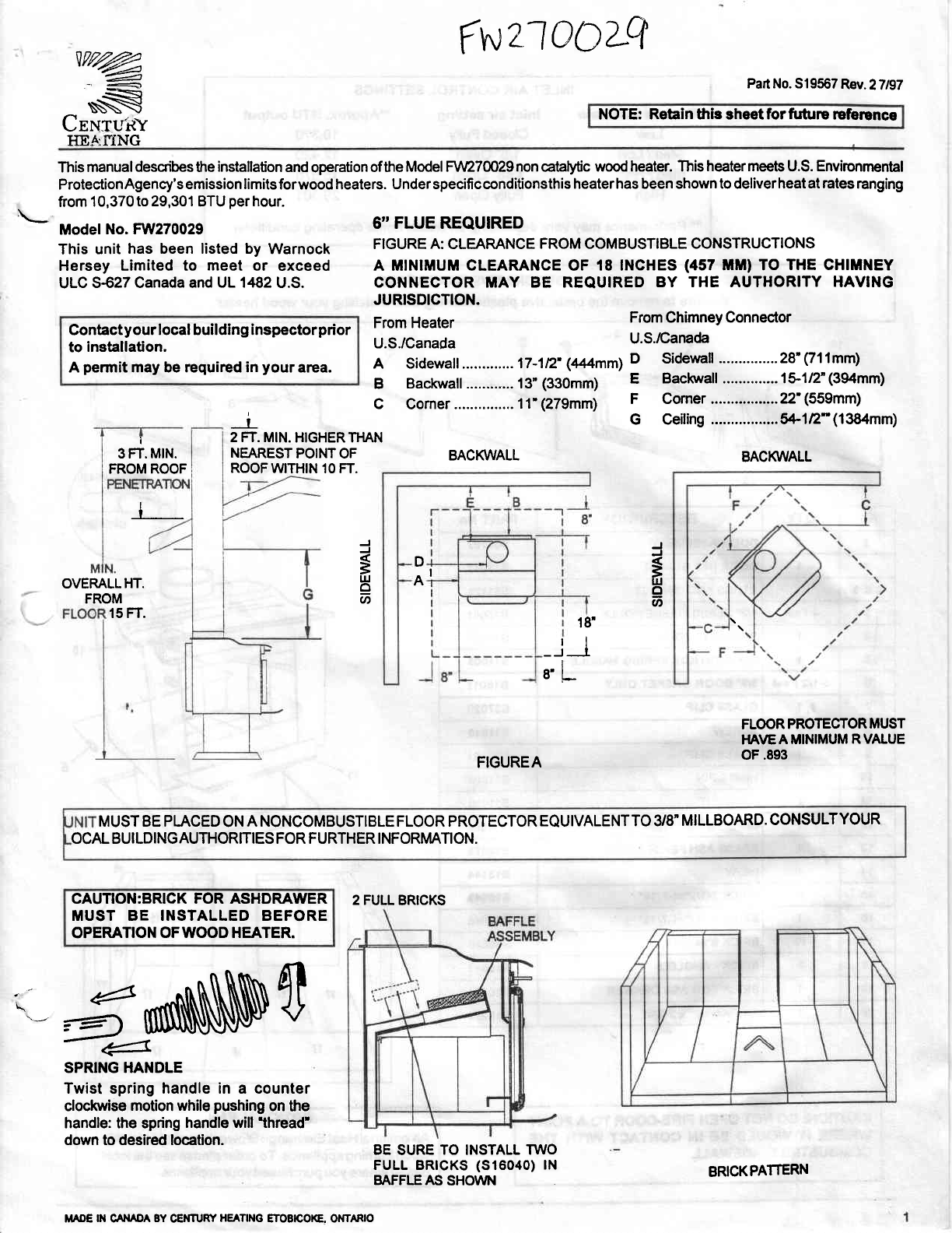 fwzloozQ - Page 12 Of Vermont Casting Stove AIR TIGHT WOOD STOVE User Guide