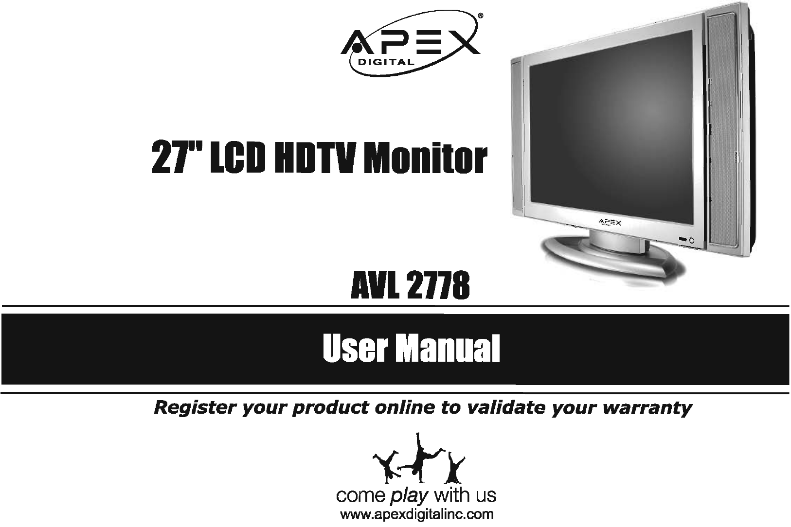 apex digital computer monitor avl 2778 user guide manualsonline com rh office manualsonline com Apex Digital TV Codes Apex Digital Antenna