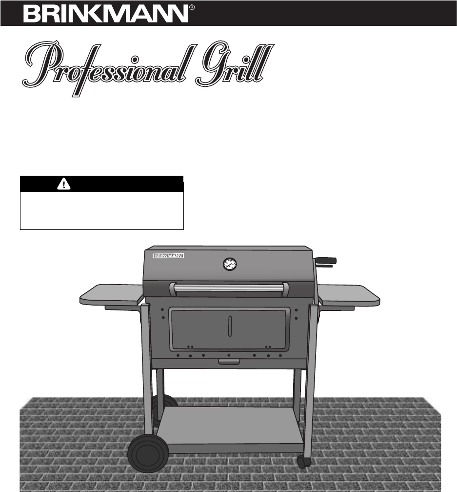 brinkmann charcoal grill heavy duty charcoal grill user guide rh outdoorcooking manualsonline com Brinkmann Company Brinkmann Constructors