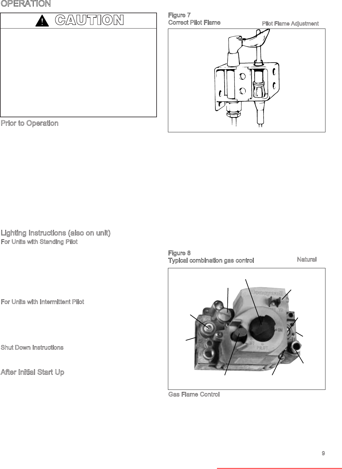 bowin gas heater user manual