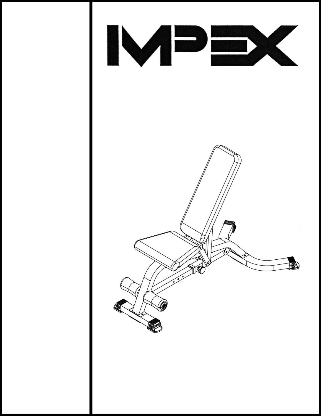 Impex IGS-6900 Home Gym User Manual
