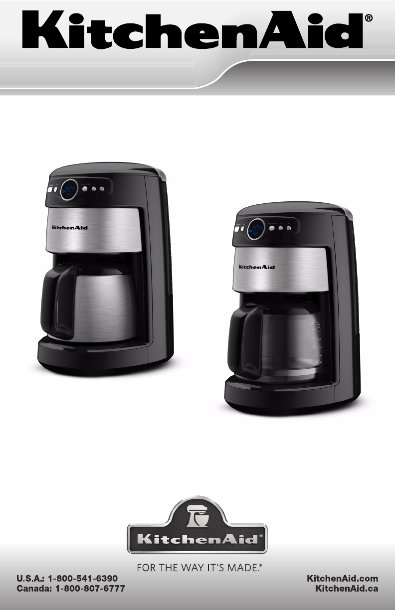 Kitchenaid Coffee Maker How To Use : Kitchenaid coffee maker 14 cup manual