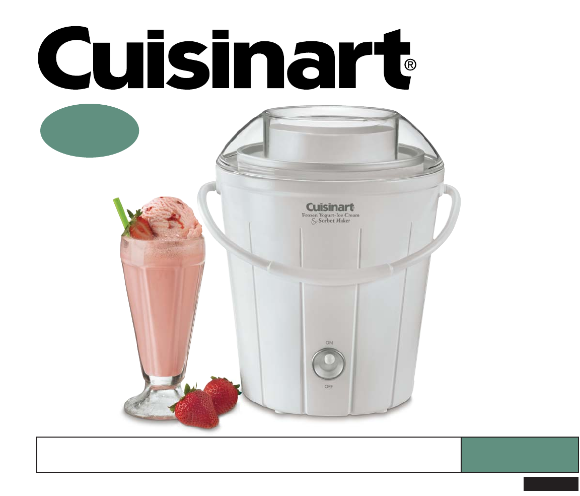 cuisinart frozen dessert maker ice 25 user guide manualsonline com rh tv manualsonline com cuisinart user's guide cuisinart waffle maker user guide