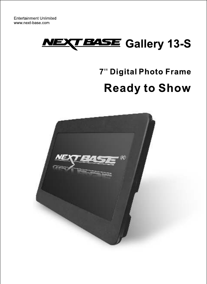 NextBase Digital Photo Frame Gallery 13-S User Guide | ManualsOnline.com