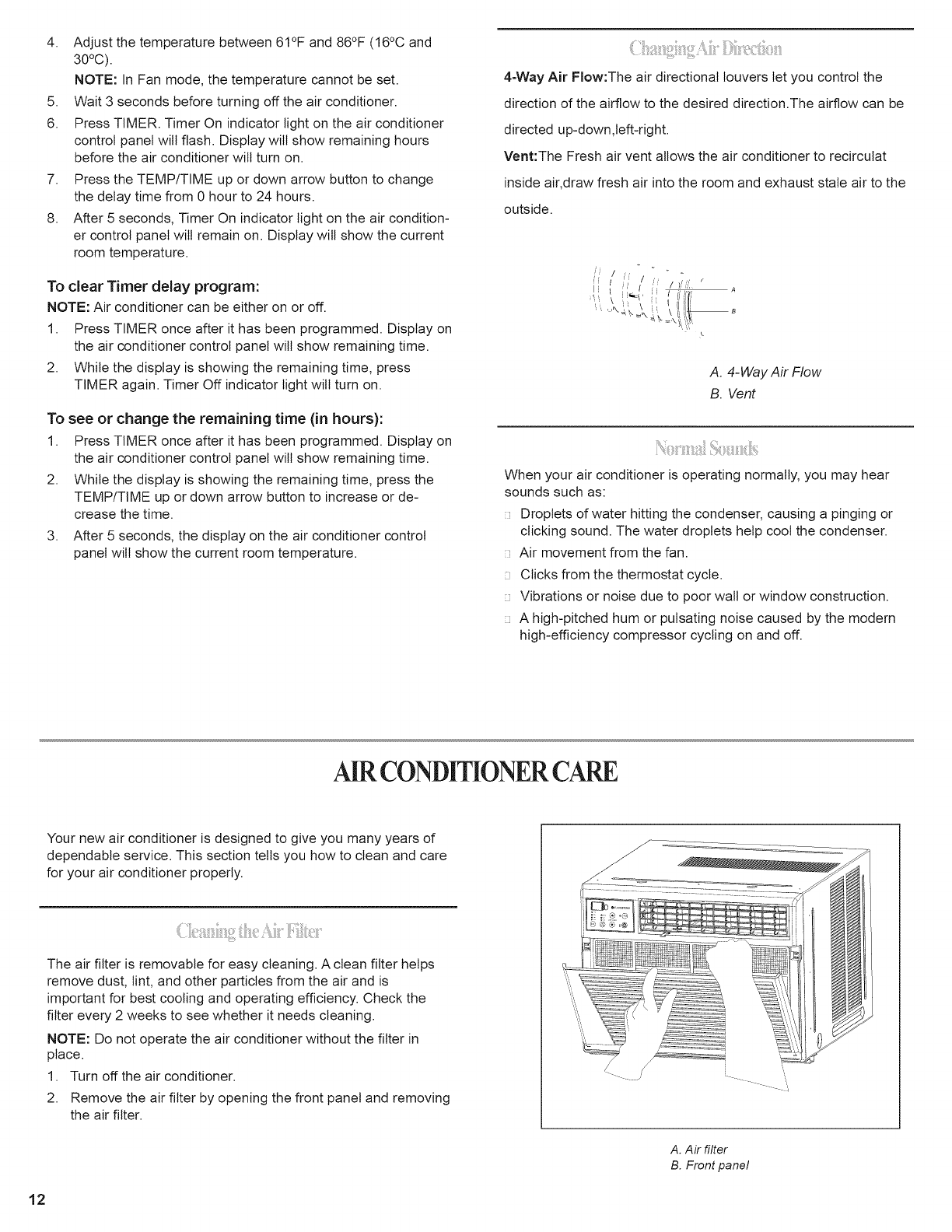 Page 13 of Black & Decker Air Conditioner BWE18A User Guide
