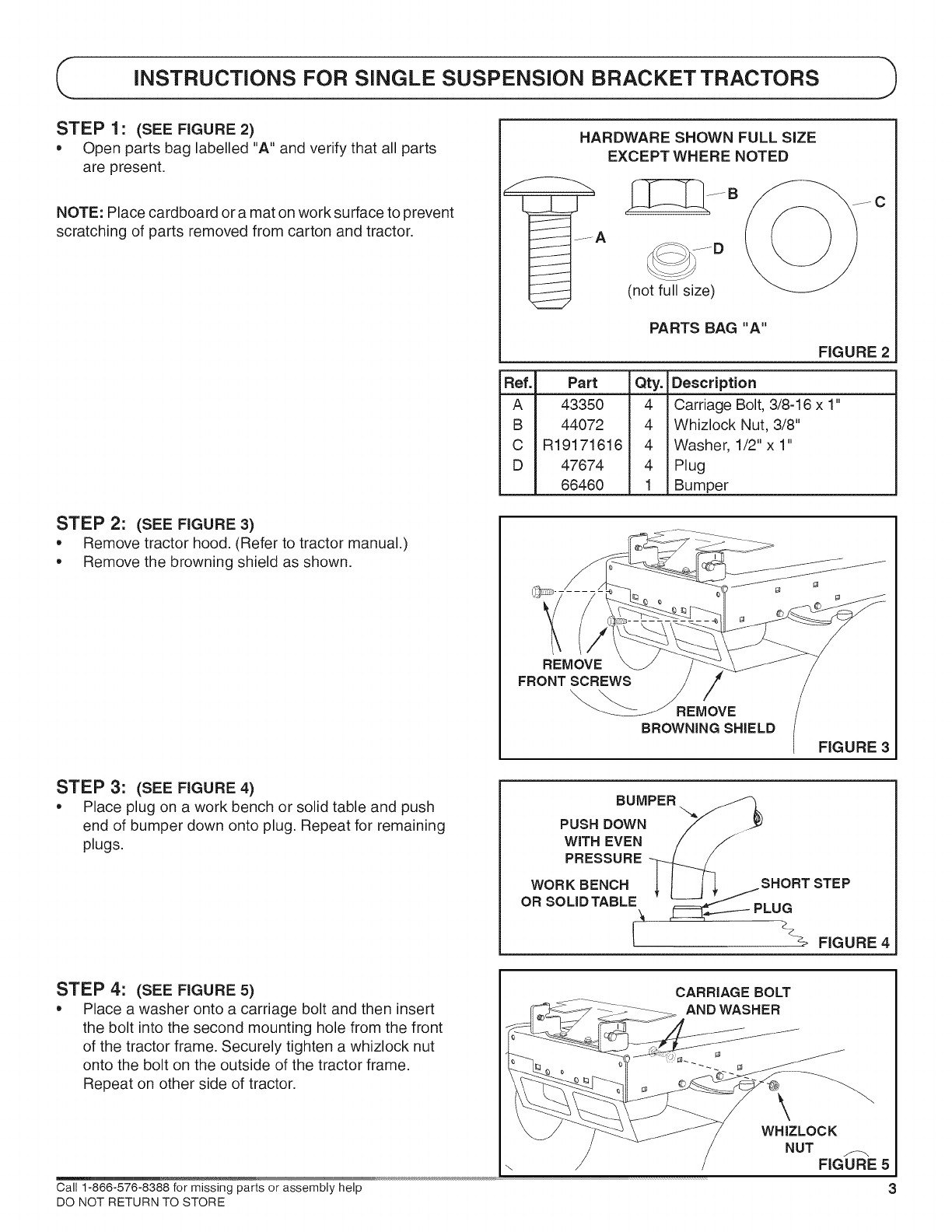 page 3 of craftsman lawn mower accessory 486 24608 user guide rh lawnandgarden manualsonline com Craftsman Chainsaw Repair Manual Craftsman Lawn Mower 917 Series