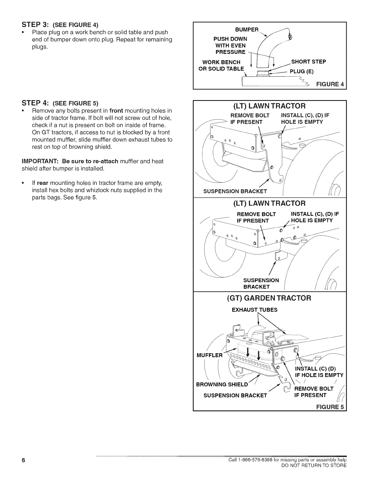 page 6 of craftsman lawn mower accessory 486 24608 user guide rh lawnandgarden manualsonline com Craftsman Riding Lawn Mower Engines Craftsman Lawn Mower 917 Series