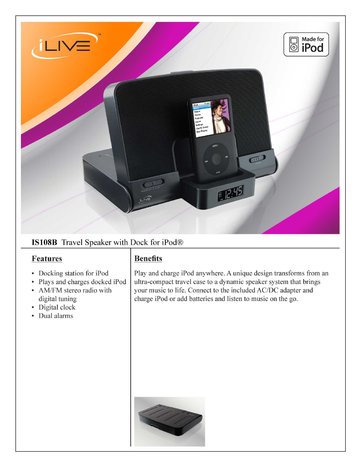 ilive mp3 docking station is108b user guide manualsonline com rh portablemedia manualsonline com User Manual Template User Guide Icon
