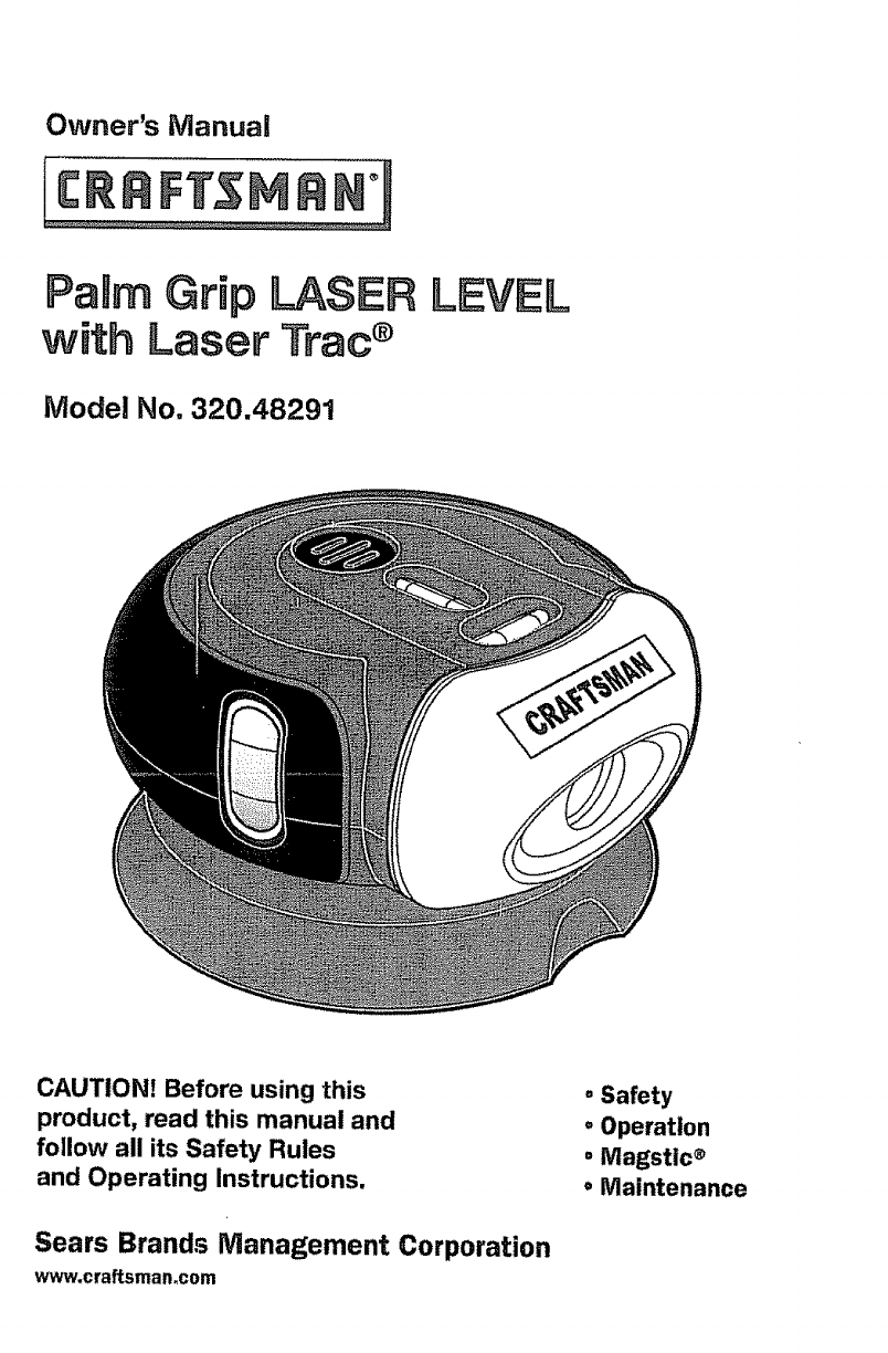 craftsman laser level 320 48291 user guide manualsonline com rh powertool manualsonline com Palm Grip Laser Level Craftsman Palm Grip Laser Level Craftsman