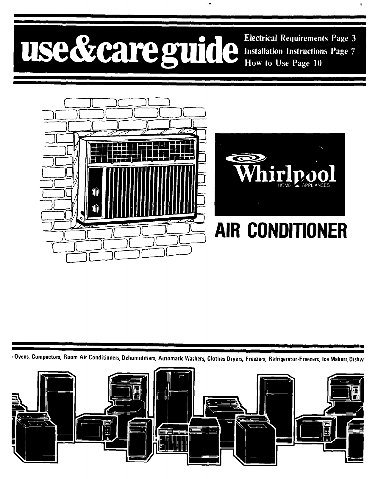 Whirlpool Window Air Conditioner Wiring Diagram For Ac Manual Acs088gpw Noblexiluswhirlpool Models