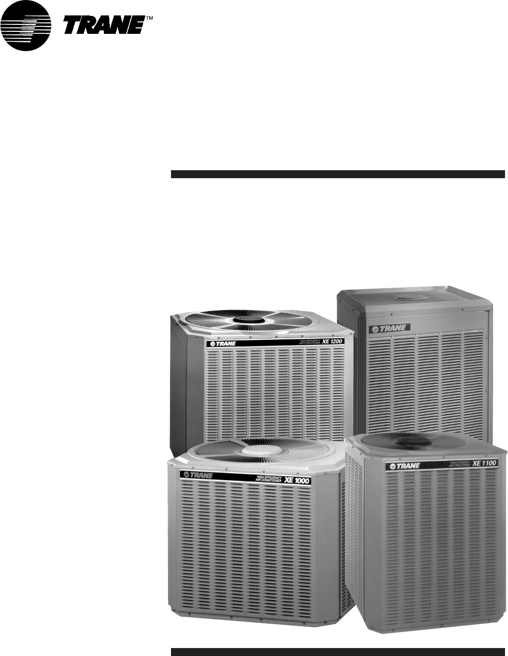trane air conditioner 22 5150 03 497 user guide manualsonline com rh homeappliance manualsonline com Trane Air Conditioners Model Numbers trane central air conditioner owner's manual