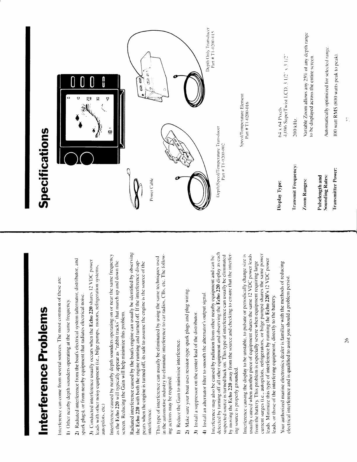 page 14 of interphase tech fish finder echo 220 user guide rh marine manualsonline com Army Technical Manuals Tech Review Manual