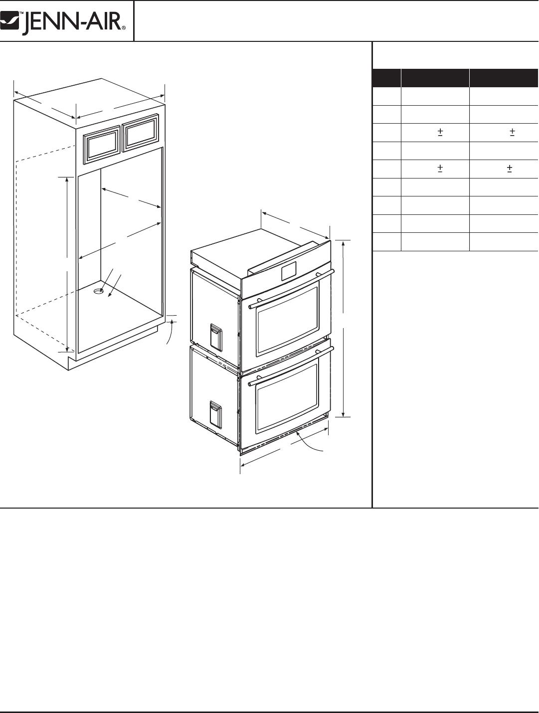 Jenn-Air JJW8630DDB Oven User Manual