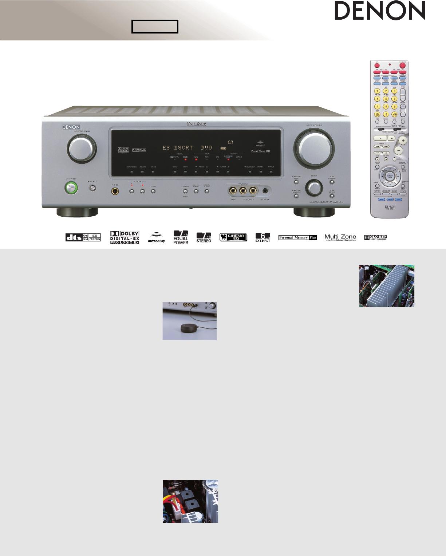 denon stereo receiver avr 686 user guide manualsonline com rh audio manualsonline com Denon AVR- 1910 Remote Control denon avr 687 manual