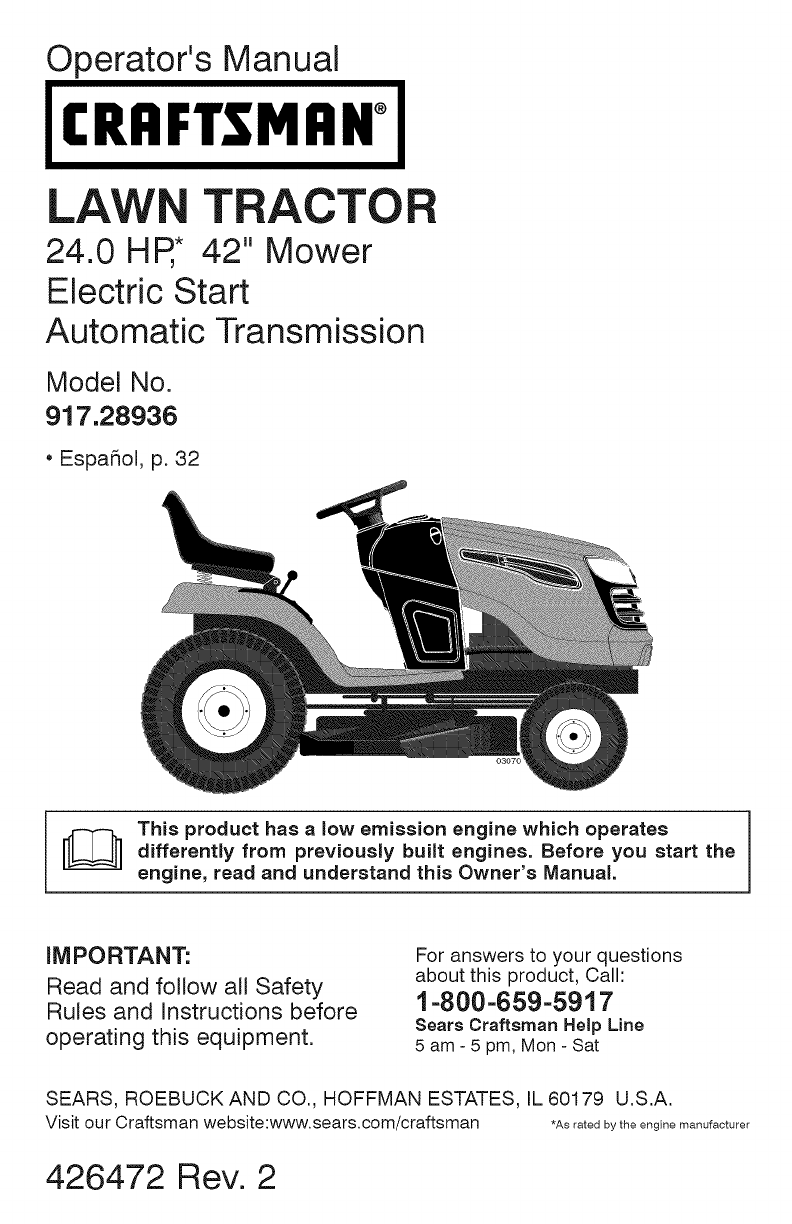 craftsman lawn mower yt 4000 user guide | manualsonline, Wiring diagram