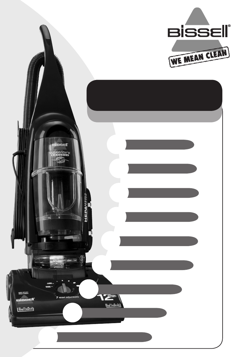bissell vacuum cleaner 20q9 user guide manualsonline com rh phone manualsonline com Bissell ProHeat Manual Bissell Steamer Manual
