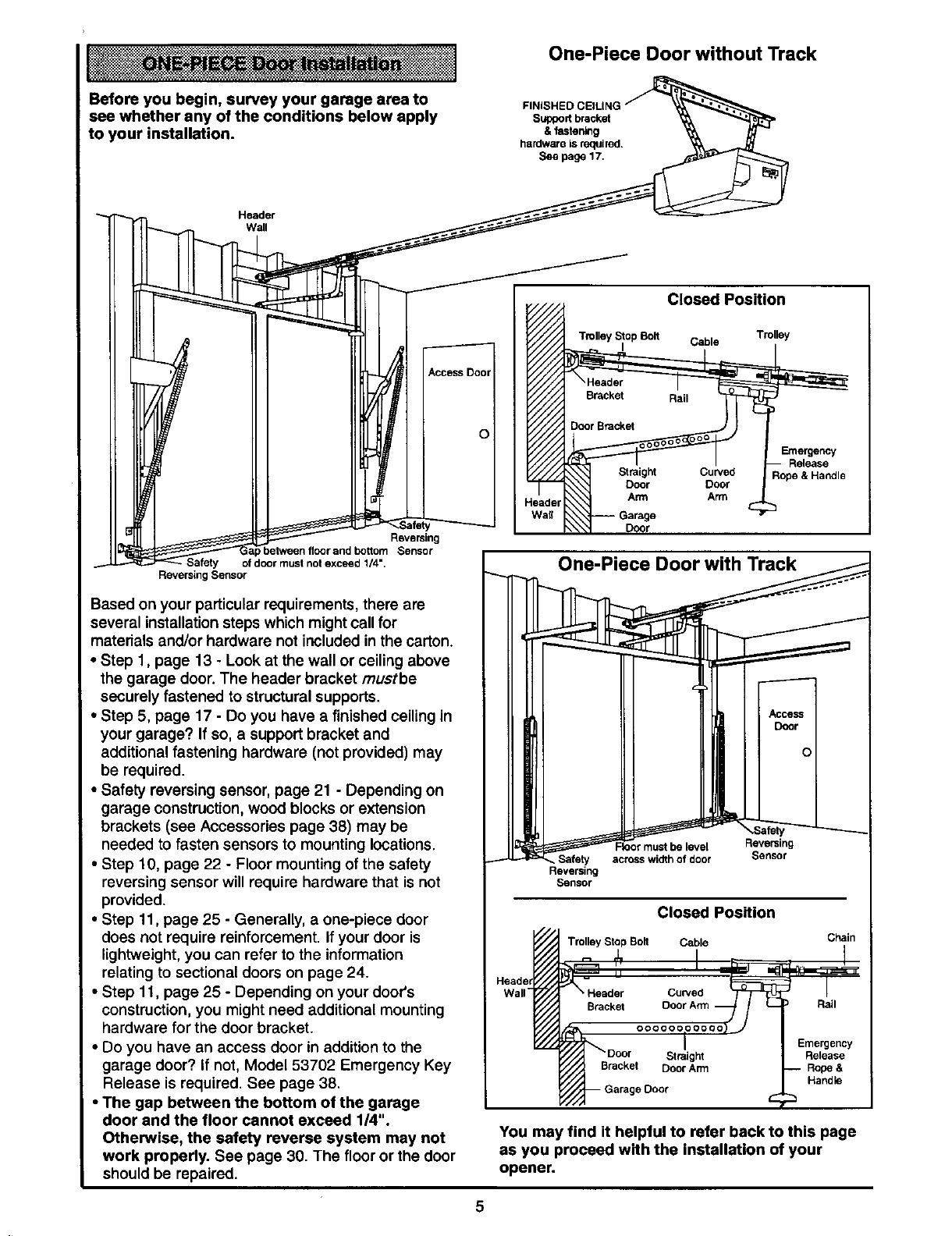 Page 5 Of Craftsman Garage Door Opener 139 53978srt User