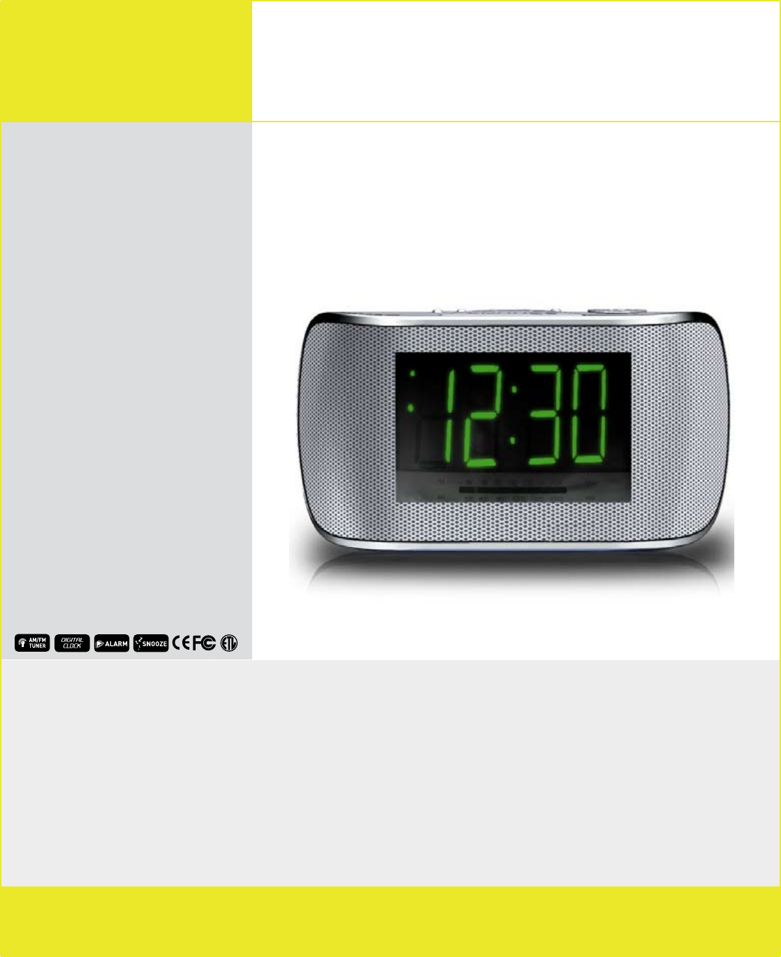 COBY electronic CR-A108 Clock Radio User Manual