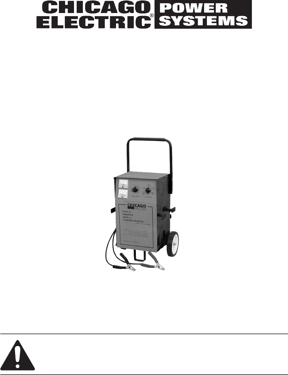 Chicago Electric Battery Charger 46944 User Guide | ManualsOnline.comPower Tools Manuals - ManualsOnline.com