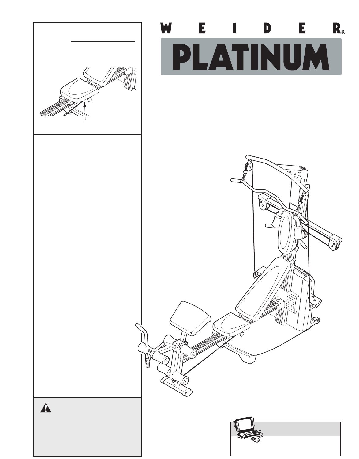 weider platinum plus home gym equipment